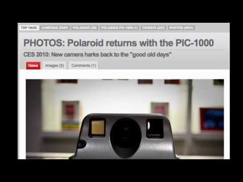 Atomic's Relaunch of Polaroid at CES 2010