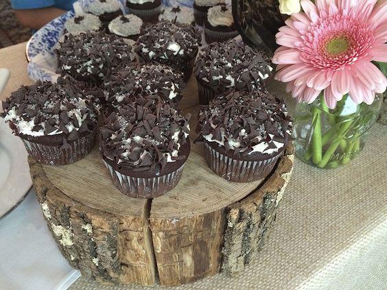 Rustic Chocolate Cupcakes with Chocolate Shavings