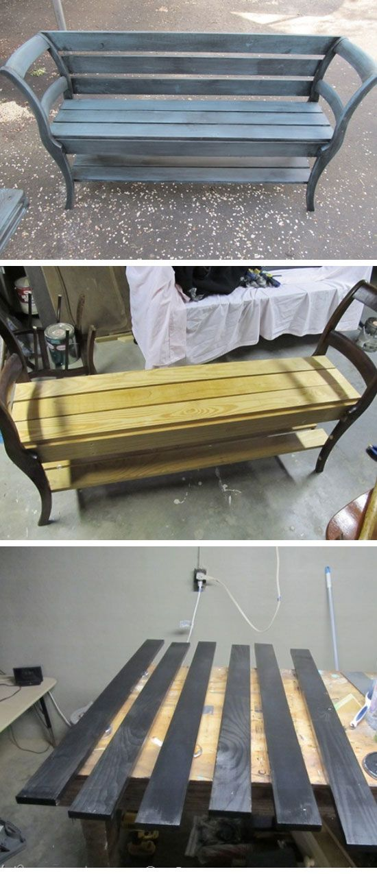 chairs into garden bench diy garden projects ideas backyards diy
