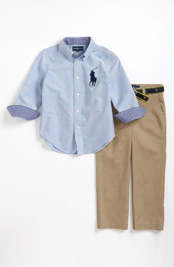 Ralph Lauren Woven Shirt & Pants (Toddler Boys) available at #Nordstrom