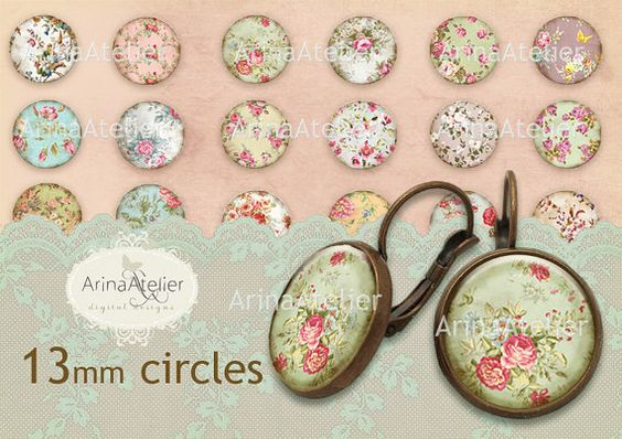 Shabby Chic Flower Collection Digital by arinaatelierDigital, $4.50