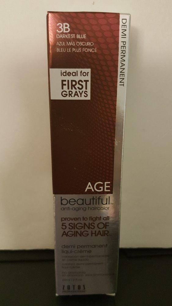 3b Darkest Blue Age Beautiful Demi Permanent Liqui Creme Hair Color 2oz Zotos Demi Permanent Aging Signs Creme