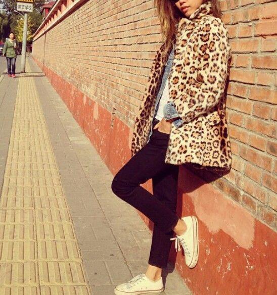 #leopard #converse
