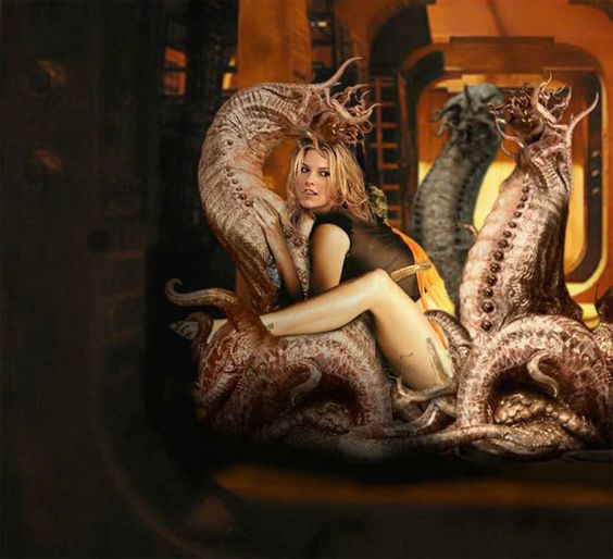 Space Monsters With Tentacles And Blonde Girl  Women And Monsters  Pinterest  Blondes, Monsters And Girls-3941