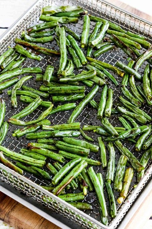 Easy Air Fryer Frijoles Verdes Asiáticos Judía Verde Ejotes Recetas Judías Verdes Al Vapor
