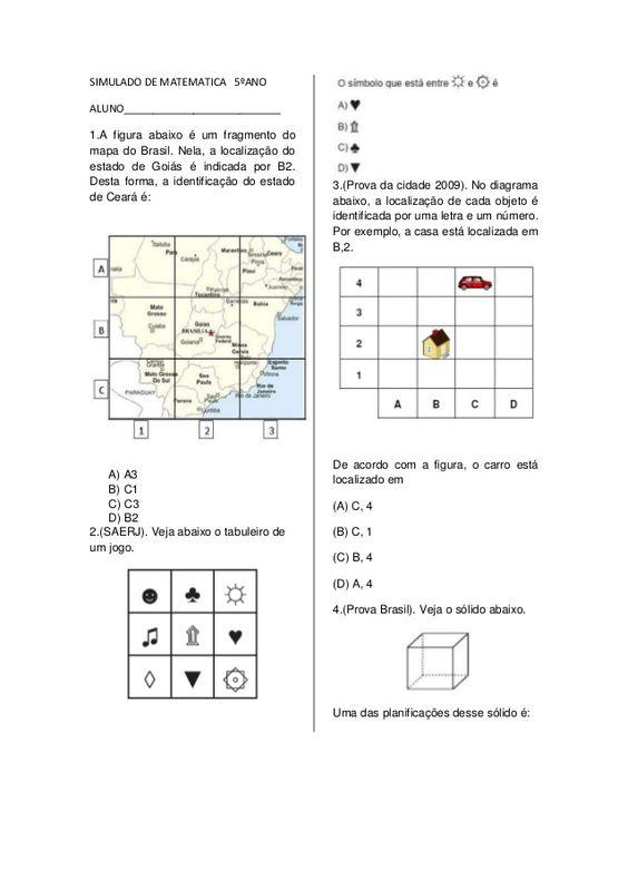 SIMULADO DE MATEMATICA 5ºANO  ALUNO___________________________  1.A figura…
