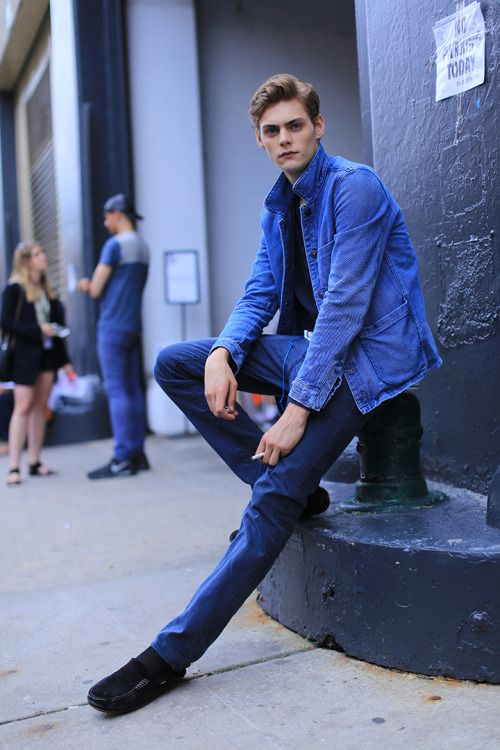 "trickymintty: ""Mats Van Snippenberg during NYFWM S/S16, ph by Aagdolla. """