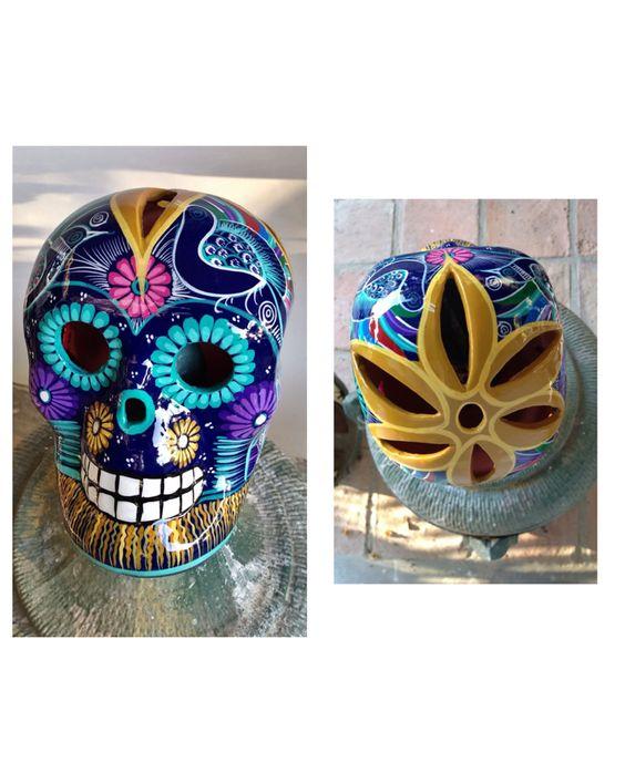 Briseras calaveras mexicanas pintadas a mano