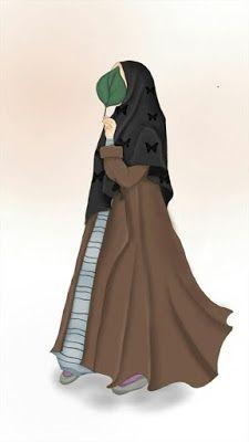 خلفيات بنات محجبات كرتون Hijab Cartoon Islamic Girl Muslim Girls