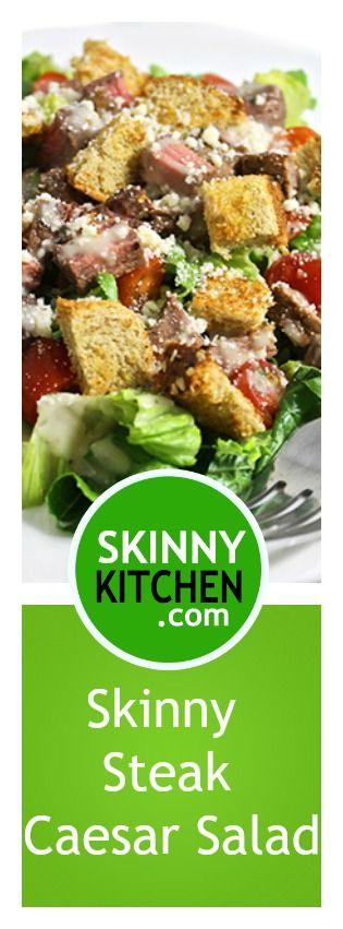 Skinny Caesar Steak Salad   Main Courses, Steaks and Skinny
