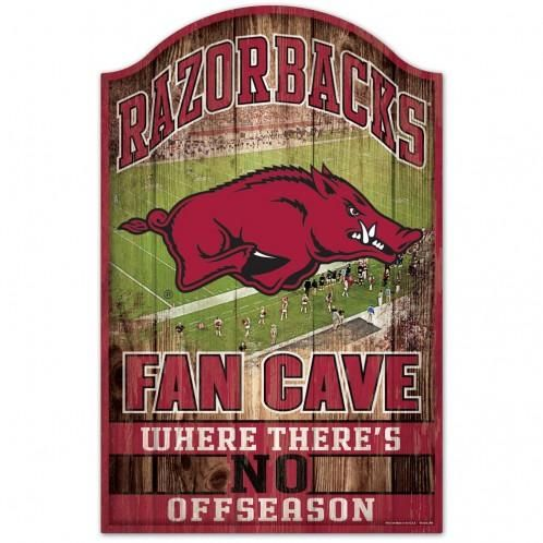 Arkansas Razorbacks Sign 11x17 Wood Fan Cave Design Special Order Backorder In 2020 Fan Cave Arkansas Razorbacks Arkansas