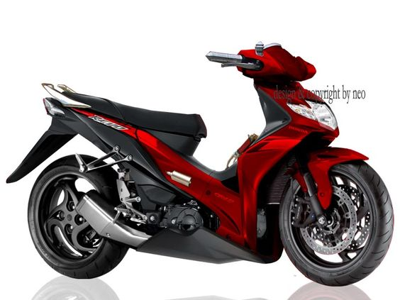 modifikasi motor honda revo absolute terbaru