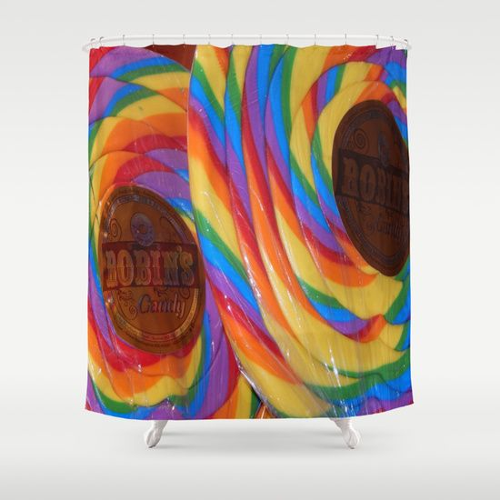 Who says you can't eat candy in the shower !!!  Make bath/shower  time fun with this bright, colorful shower curtain that the kids can enjoy.  WARNING - NOT EDIBLE ;P Most of my Art & Photography can be printed on duvet covers. Message me on my website for an image of your choice !!