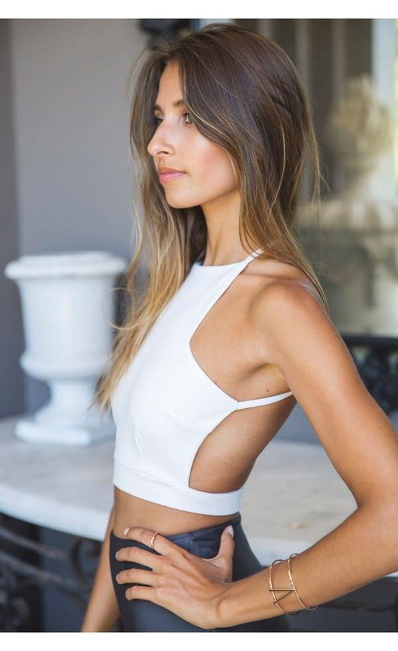 Liana Buckle Crop White - Tops - Clothing