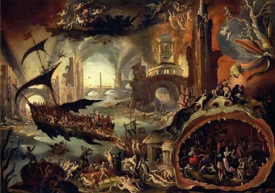 Jacob Isaacsz van Swanenburgh Aeneas Led by the Cumean Sybil through the Underworld, 1625