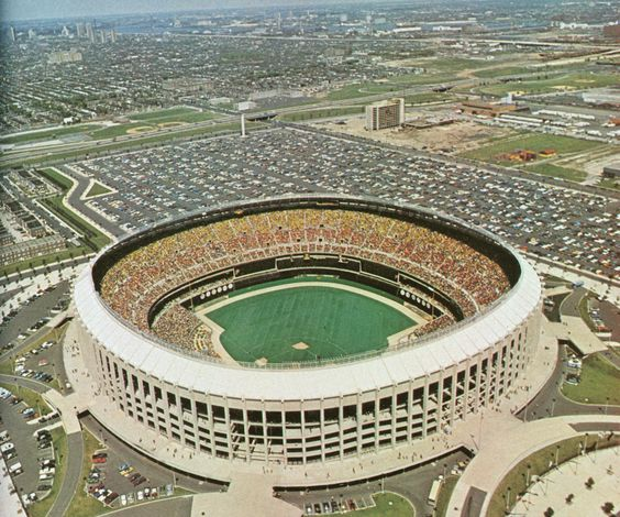 Philadelphia Phillies - Old Veterans Stadium - Philadelphia, PA - Thankfully, this old place no longer exists. The new park seems quote nice, sells out regularly, and seems to be a fun place. Unfortunately, I haven't had the chance to visit it yet.