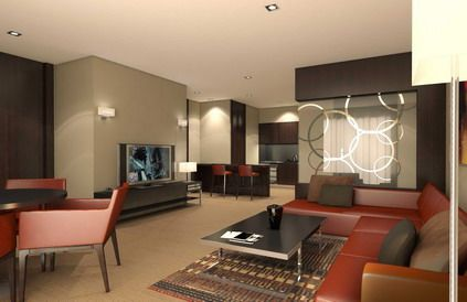 Comfortable living room sofas in small condo interior for Interior designs for condo units