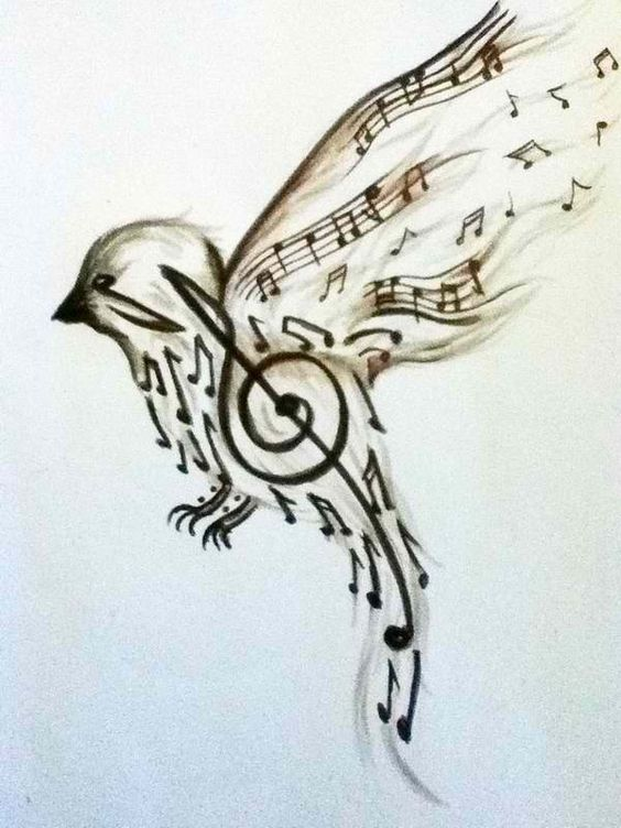 I have found my future tattoo! My God keeps His eyes on the sparrow and I am more important than a sparrow. And so I will glorify Him with my music.