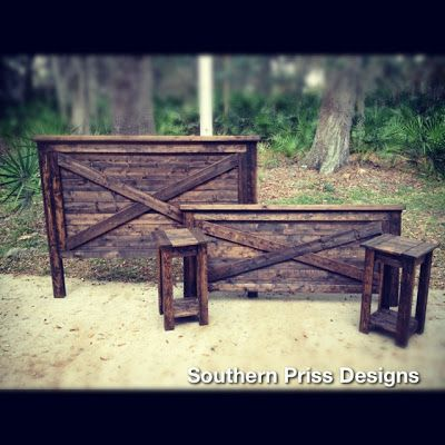 Simple and pretty bedroom furniture. The dresser could be a pretty statement piece. Southern Priss Designs: S.P. Furniture