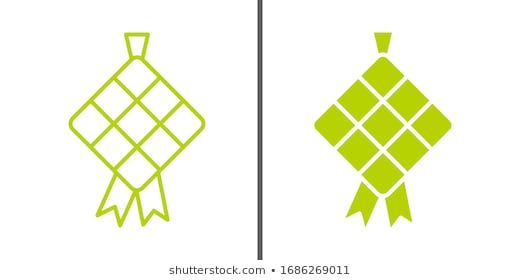 Ketupat Icon Illustration Ketupat Typical Southeast Stock Vector Royalty Free 1686078976 Icon Illustration Illustration Leaf Logo