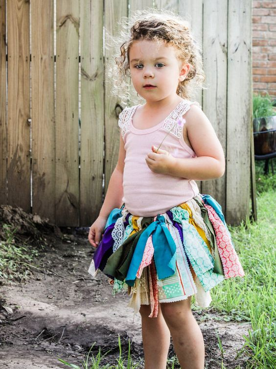 Scrappy Tutu Rag Tutu Scrappy Skirt Rag by AriBabyCustomDesign