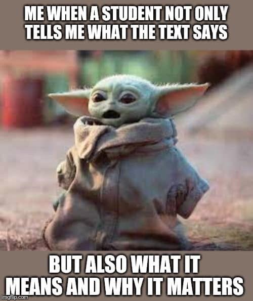 Baby Yoda English Teacher Yoda Funny Yoda Meme Funny Laugh