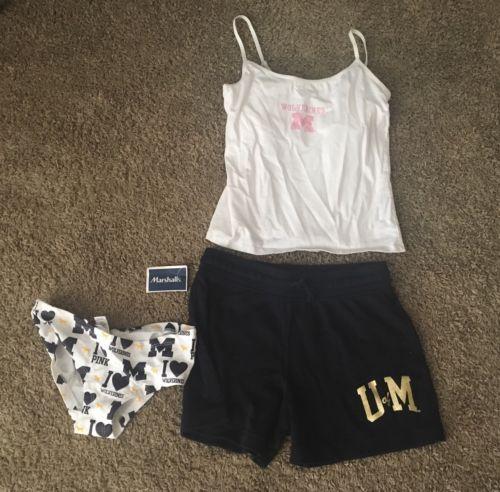 U of M Shorts Tank And Victoria Secret Panty Wolverines  http://dlvr.it/McvrV4 - http://Ebaypic.twitter.com/why9aGLypX