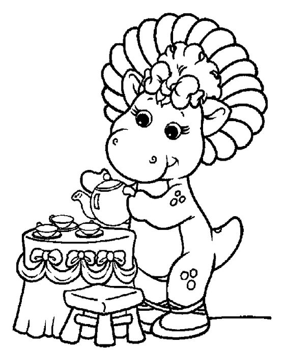 Free Barney coloring book pages 07 | coloring pages | Pinterest ...