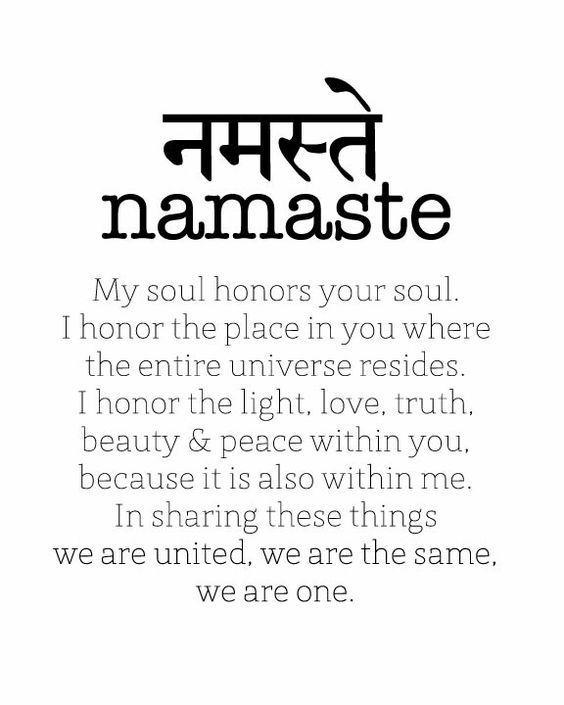 Das Wort Namaste Stammt Aus Dem Sanskrit Und Bedeutet Frei Ubersetzt Das Gottliche In Mir Grusst Das Gottliche Yoga Quotes Namaste Yoga Quotes Yoga Symbols