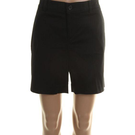 Lauren Ralph Lauren Womens Solid Stretch Casual Shorts