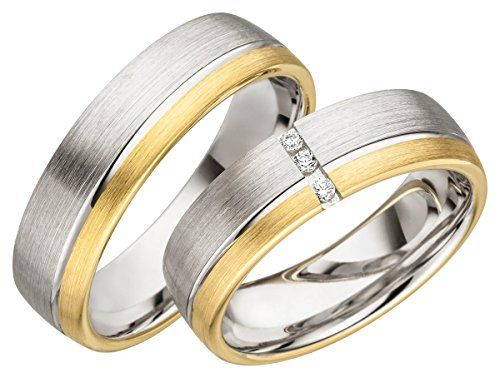 2 Ringe Verlobungsringe Eheringe Trauringe mit kostenloser Lasergravur