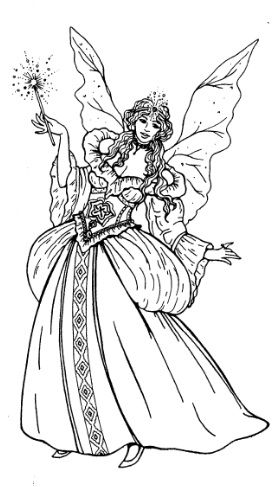 Frantic Stamper Cling Mounted Rubber Stamp Fairy