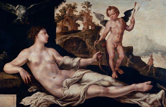 Maerten van Heemskerck - Venus en Amor 1545
