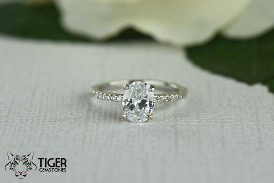 1.25 Carat Oval Accented Solitaire Wedding Ring by ...