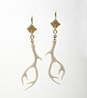 antler earrings