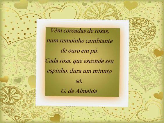 Mensagens-blog Entre Arte, Poesias e Cartões Flores e Belezas da natureza: Poema de G. de Almeida ( fragmento) N35