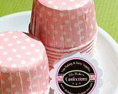 Super Cute Baking Cups In Light Pink... They come in many different colors. Deff need to remember these