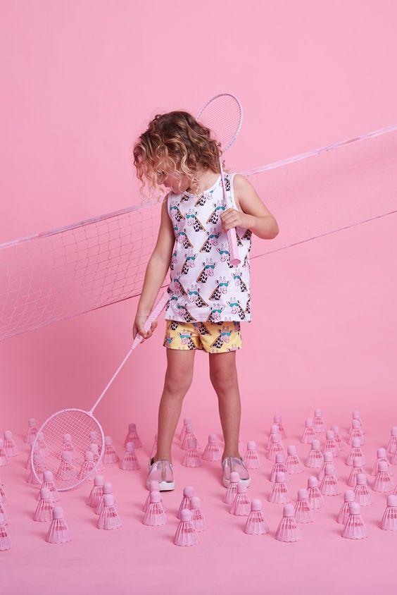 New Giraffe print colourways at Gardner and the Gang for spring/summer 2016 kidswear
