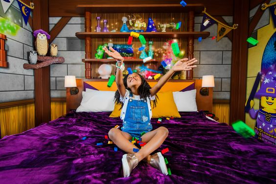 Magic Wizard themed room at the LEGOLAND Castle Hotel.