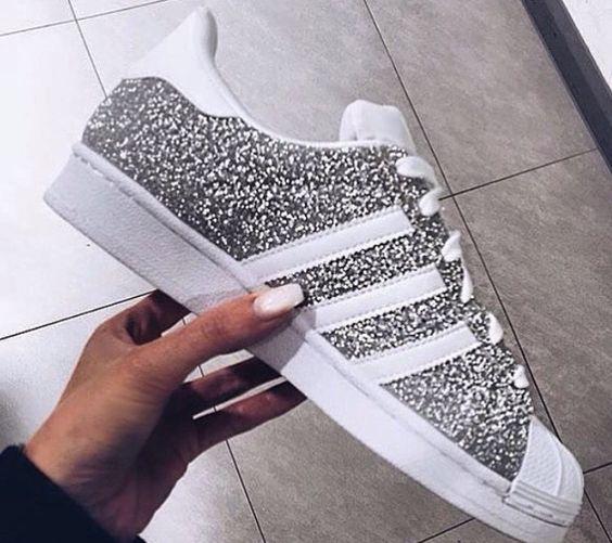 superstar glitter silver