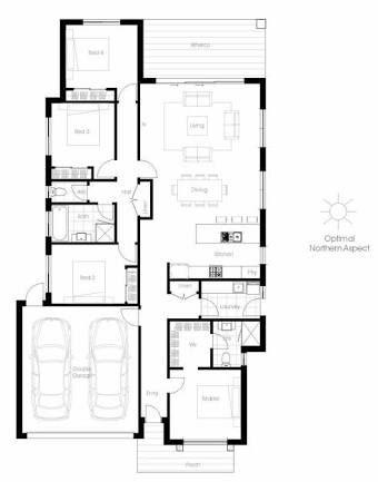 Image Result For Great Floor Plan For Solar Passive Home In Australia Energy Efficient House Plans Floor Plans House Plans Australia
