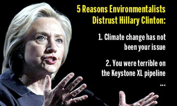 Five reasons environmentalists distrust Hillary Clinton, and what she can do to regain some trust