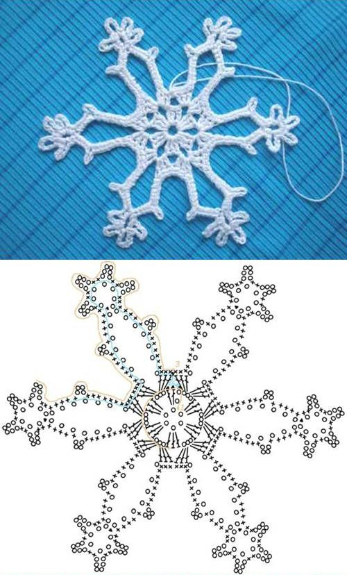 Wonderful DIY Crochet Snowflakes With Pattern | Crochet snowflakes ...