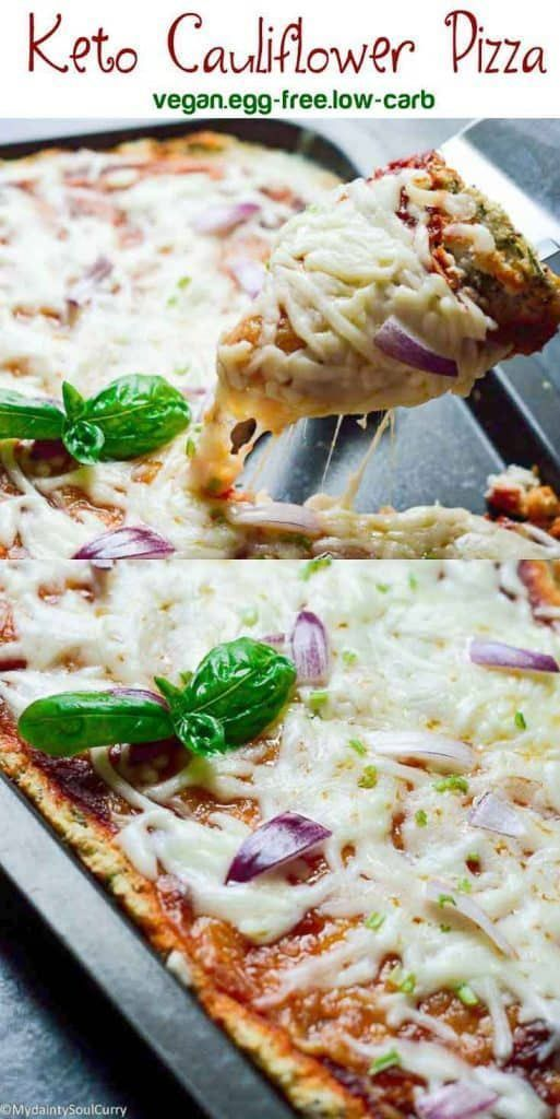 Keto Cauliflower Pizza Recipe Keto Cauliflower Food Recipes