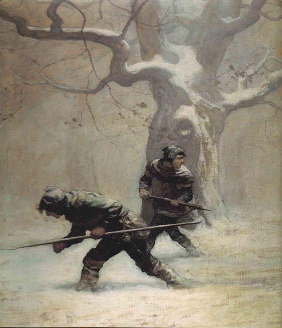 woodsmen in winter