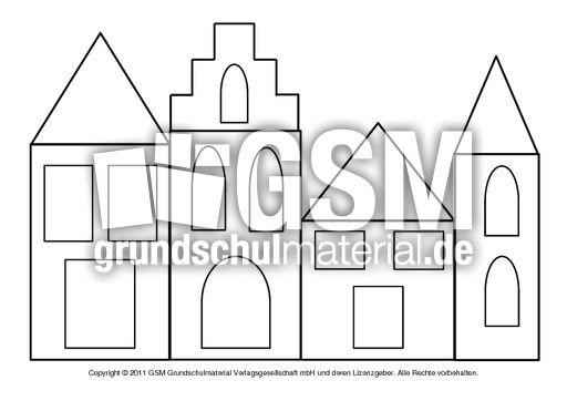 Fensterbild Transparentpapier Hauser 2 Pdf Fensterschmuck Fensterdeko Weihnachten Grundschule