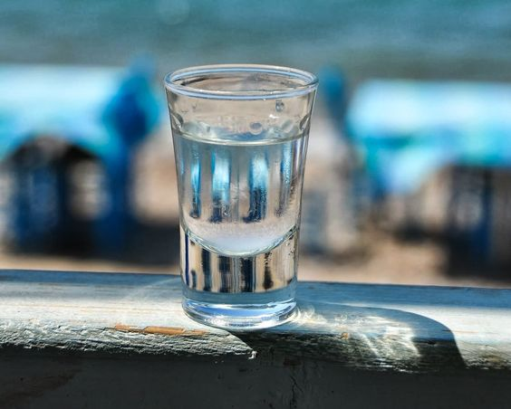 A sip of #raki! #Cretan #spirit: