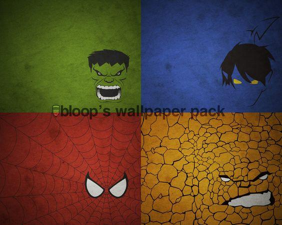 Wallpapers minimalistas de superheroes