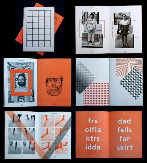 Very nice two colour Risograph printed Day Zine. | graphic ...