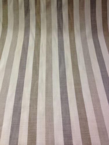 Cotton Curtain Fabric Beige Cream Taupe Amp Grey Stripe